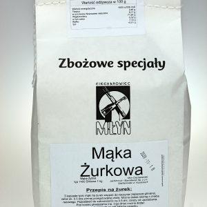 Mąka żytnia typ 1400 Żurkowa 1 kg
