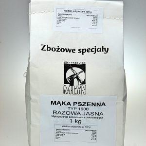 Mąka pszenna Razowa Jasna typ 1600 1 kg